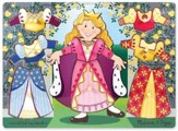 Princess Dress-Up Mix 'n Match Peg Puzzle