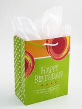 Happy Birthday Gift Bag, Psalm 118:24, Small