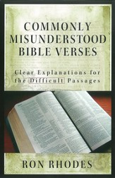 Commonly Misunderstood Bible Verses: Clear Explanations for the Difficult Passages - eBook