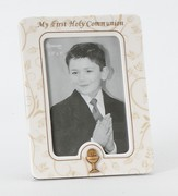 My First Holy Communion Photo Frame, White