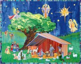 Holy Night Advent Calendar with Stickers