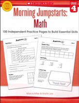 Morning Jumpstarts, Math Grade 4: 100 Independent Practice Pages to Build Essential Skills