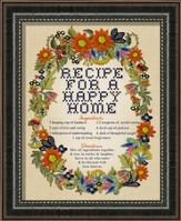 Recipe For A Happy Home, Framed Art
