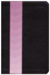 Message Slimline Bible--soft leather-look, brown/pink