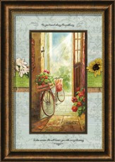 As You Travel Along His Pathway Framed Art