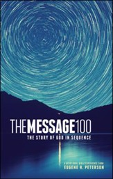 The Message 100 Devotional Bible: The Story of God in Sequence, hardcover