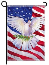 Peace Dove American Flag, Small