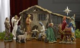 Real Life Nativity Set, Complete Collection, 10.25