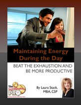 Maintaining Energy During the Day: Beat the Exhaustion and Be More Productive - eBook