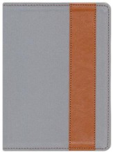 The Message//REMIX Bible--soft leather-look, grey/tan