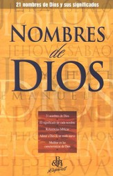 Nombres de Dios, Folleto (Names of God, Pamphlet)