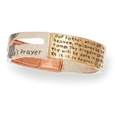 Lord's Prayer, Tri Tone Polished Bracelet