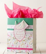 Faith Floral Gift Bag, Medium