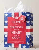 Glory, Strength, Heart Gift Bag, Large