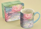 He Leads Me Beside Still Waters, Water Lily Mug