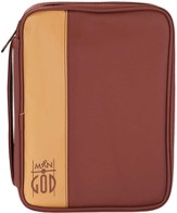 Man of God Bible Cover, Brown, Large