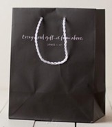 Every Good Gift is From Above Gift Bag, Gray, Medium