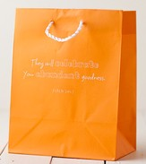 They Will celebrate Your Abundant Goodness Gift Bag, Orange, Medium