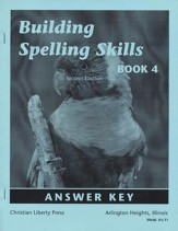 Building Spelling Skills Book 4 Answer Key, Second Edition, Grade 4