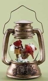 Musical Christmas Lantern with Cardinals