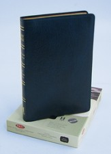NKJV Ultra Thin Large Print Reference Bible, Bonded leather, Dark blue