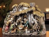 Nativity with Stable, 10 Piece