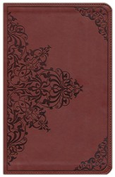 ESV Classic Thinline TruTone Bible, Nutmeg with Filigree Pattern - Slightly Imperfect
