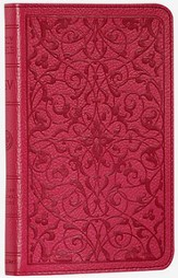 ESV Classic Thinline TruTone Bible wild rose with floral design