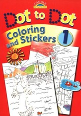 Candle Activity Fun: Dot to Dot Coloring and Stickers, Book 1