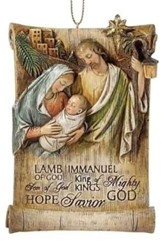 Jesus Name, Holy Family Ornament