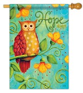Hope Always, Owl Flag, Large