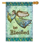Be Blessed with Wings Flag, Large