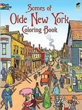 Scenes of Olde New York Coloring BookGreen Edition