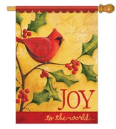 Joy to the World Cardinal, Flag Large Size