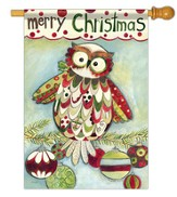 Merry Christmas (owl), Large Flag