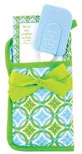 Serve One Another Pot Holder Gift Set, Blue and Green