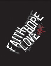Faith, Hope, Love Spiral Notebook