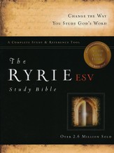 ESV Ryrie Study Bible, Black Bonded Leather, Thumb-Indexed  - Slightly Imperfect