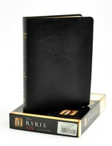 ESV Ryrie Study Bible, Black Genuine Leather, Thumb-Indexed