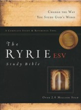 ESV Ryrie Study Bible, Burgundy Bonded Leather