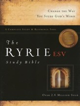ESV Ryrie Study Bible, Burgundy Bonded Leather, Thumb-Indexed