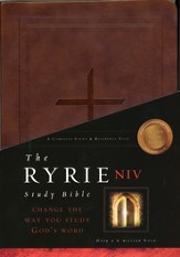 NIV Ryrie Study Bible, Burgundy Soft-Touch 1984