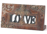 Love Plaque with Cross