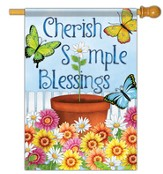 Cherish Simple Blessings, Large Flag