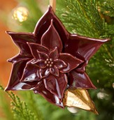 Worship the Lord in the Beauty of Holiness Poinsettia Ornament