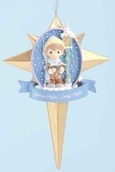Caroler in Star Ornament, Silent Night