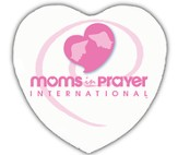 Moms in Prayer Heart Shaped Button