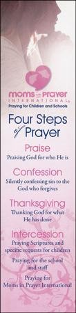 4 Steps of Prayer Bookmark, 40 Pack