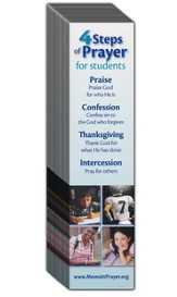 4 Steps of Prayer - Student Bookmark, 40 pack