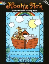 Noah's Ark Stained Glass Coloring Book